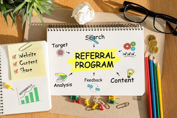 Referral program for professional services.